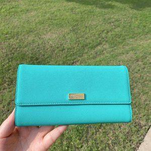 Kate Spade Brightberl aqua Sandra WLRU1501 Wallet